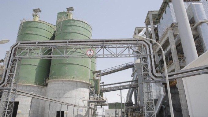 Production capacity of more than 6 thousand tons per day in Sohar Cement Factory