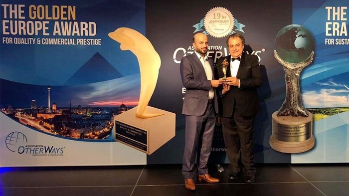Raysut Cement Company secured the Golden Europe Award for Quality and Commercial Prestige
