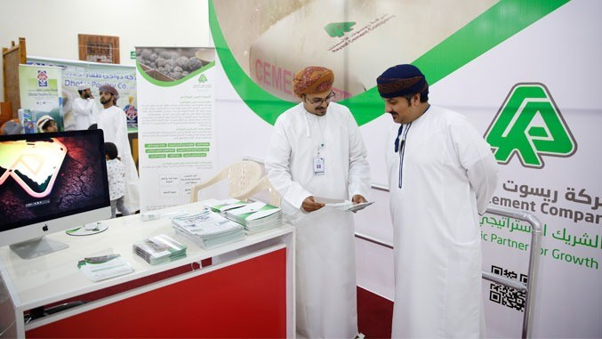 Raysut Cement Company supporting Omani products exhibition as a part of 2018 salalah tourist festival activities
