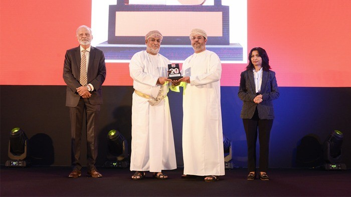 RCC receiving an award of OER TOP 20 OMAN's largest corporates