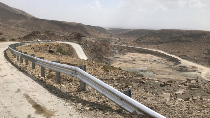 Side barrier project completion for Wadi Eshat road